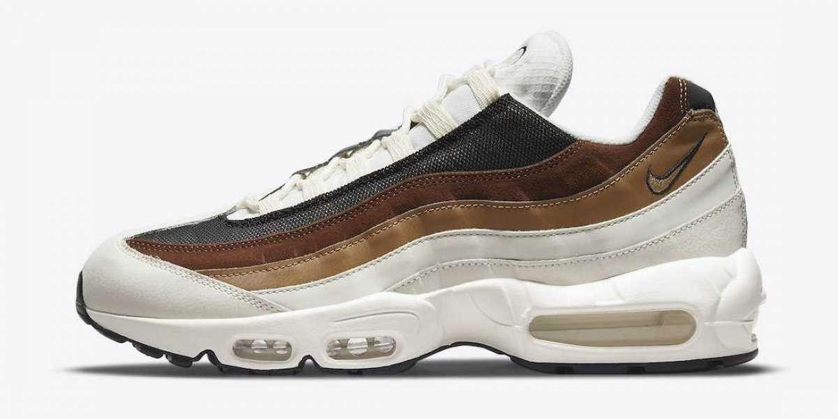 "DB0250-100 Nike Air Max 95 ""Cashmere"" Dark Driftwood Sneakers"