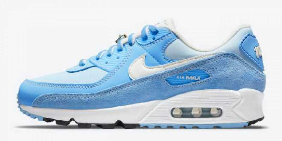 """2021 Latest Nike Air Max 90 """"First Use"""" University Blue Running Shoes DA8709-400"""