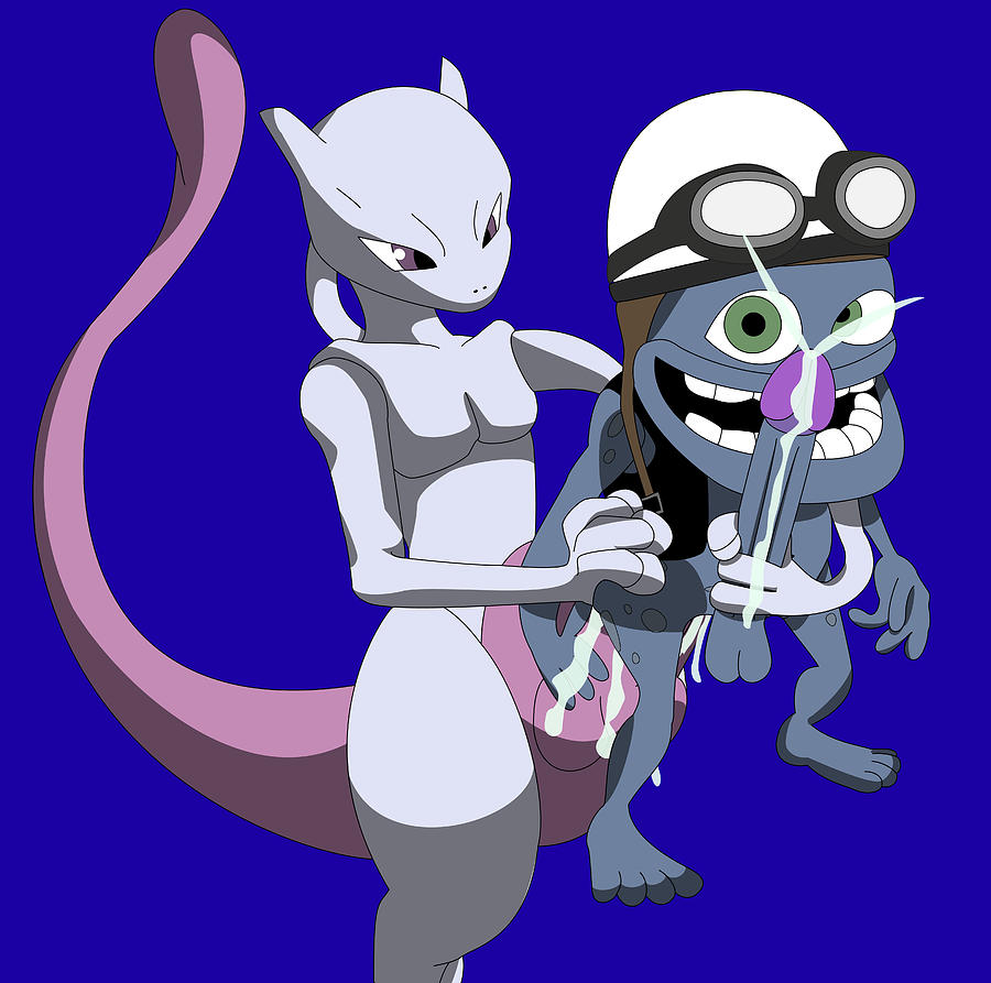 Mewtwo X Crazy Frog Digital Art by Happy The Red